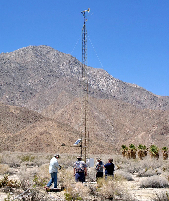 The weather station at Anza-Borrego. Image credit: NPS
